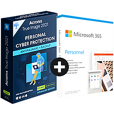 Pack Acronis True Image Advanced + Microsoft 365 Personnel