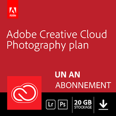 Adobe Creative Cloud Photographie - 20 Go