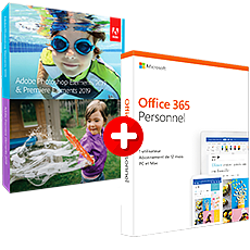 ADOBE Photoshop Elements 2019 & Premiere Elements 2019 - Windows + Microsoft Office 365 Personnel