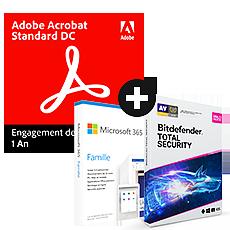 Pack Acrobat Standard DC + Microsoft 365 Famille + Bitdefender Total Security