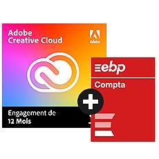 Adobe Creative Cloud All Apps + EBP Comptabilité ACTIV + Contrat de mise à jour