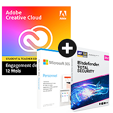 Pack Adobe Creative Cloud All Apps - Education + Microsoft 365 Personnel + Bitdefender Total Security
