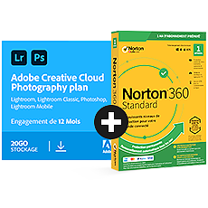 Pack Adobe Creative Cloud Photo 20 Go + Norton 360 Standard