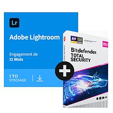 Pack Adobe Lightroom CC + Bitdefender Total Security