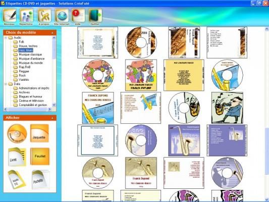 Etiquettes CD-DVD et jaquettes - Solutions CréaFuté - Acheter et télécharger sur ...
