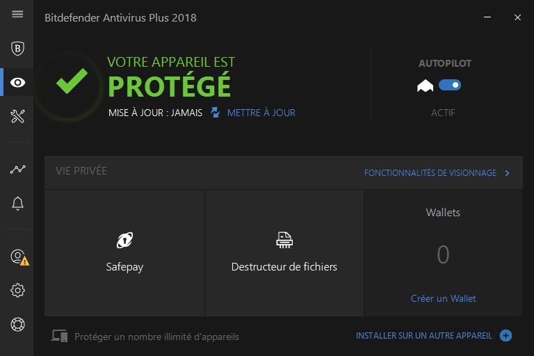 bitdefender antivirus plus 2018 acheter et t l charger sur. Black Bedroom Furniture Sets. Home Design Ideas