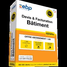 EBP Devis & Facturation Bâtiment DYNAMIC - Abonnement 12 mois