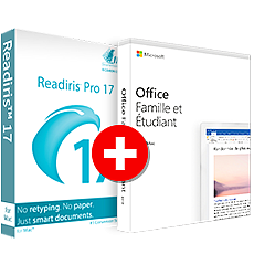 Office Famille et Etudiant 2019 + Readiris Pro 17 - Mac