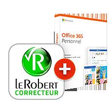 Pack Microsoft 365 Personnel + Le Robert Correcteur