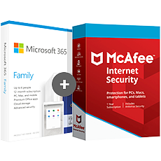 Microsoft 365 Home + McAfee Internet Security