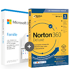 Pack Office 365 Famille + Norton 360 Deluxe