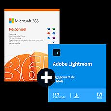 Pack Adobe Lightroom CC + Microsoft 365 Personnel