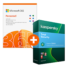 Pack Microsoft 365 Personnel + Kaspersky Total Security