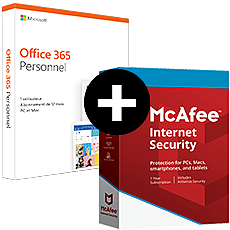 Office 365 Personnel + McAfee Internet Security