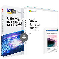 Office voor Thuisgebruik en Studenten 2019 + Bitdefender Internet Security 2020