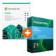 Visuel Pack Microsoft 365 Famille + Kaspersky Total Security