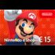 Visuel Code numérique pour approvisionnement de compte Nintendo eShop : 15 €