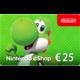 Visuel Code numérique pour approvisionnement de compte Nintendo eShop : 25 €
