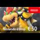 Visuel Code numérique pour approvisionnement de compte Nintendo eShop : 50 €