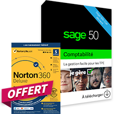 Sage 50 Comptabilité Essentials - Contrat Simply + Norton 360 Deluxe