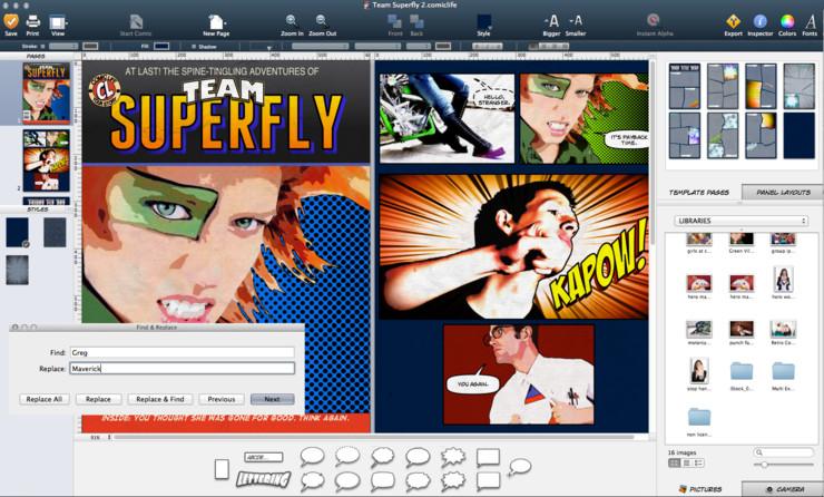 comic life 3 licence familiale mac windows acheter et t l charger sur. Black Bedroom Furniture Sets. Home Design Ideas
