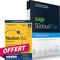 SAGE 50cloud Ciel Gestion commerciale Essentials - Assistance Simply 30 jours + Norton 360 Deluxe