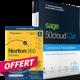 Visuel SAGE 50cloud Ciel Compta et Gestion commerciale Essentials - Assistance Serenity 1 an + Norton 360 Deluxe
