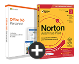 Pack Office 365 Personnel + Norton™ AntiVirus Basic - 1 PC - Abonnement 1 an