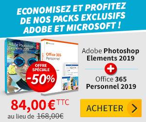 Economisez et profitez de nos packs exclusifs Adobe et Microsoft