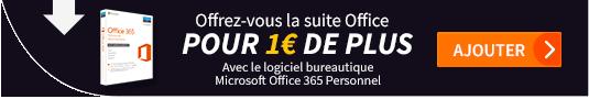 Offrez-vous la suite Office pour 1€ de plus