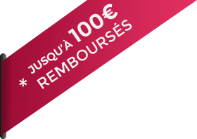 Jusqu'à 100€ remboursés
