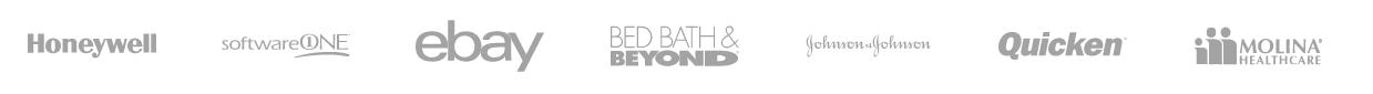 Honeywell - SoftwareOne - Ebay - Bed Bath & Beyond - Johnson & Johnson - Quicken - Molina Healthcare