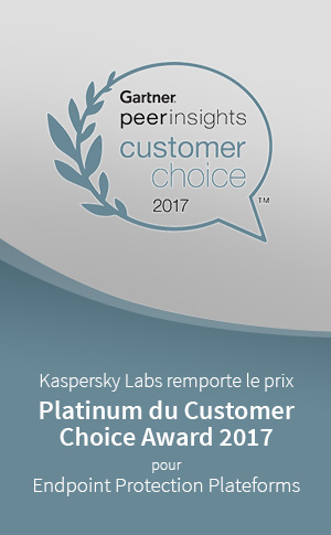 Platinum du Customer Choice Award 2017