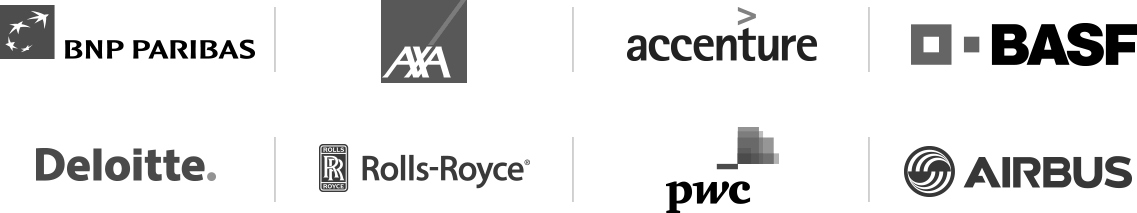 BNP PARIBAS - AXA - Accenture - BASF - Deloitte - Rolls-Royce - pwc - Airbus