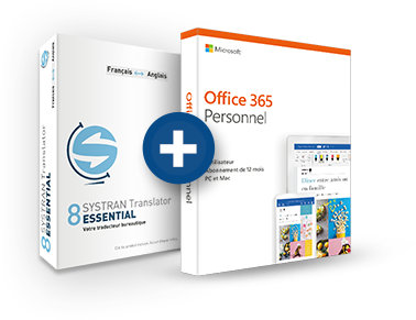 Office 365 Personnel + Systran 8 Translator Essential