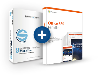 Office 365 Famille + Systran 8 Translator Essential