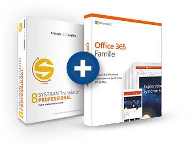Office 365 Famille + Systran 8 Translator Professional