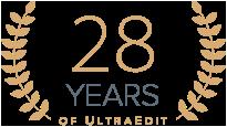 28 years of UltraEdit